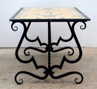 French Mid-Century Tile Top Table by Jean Lurcat at 1stdibs