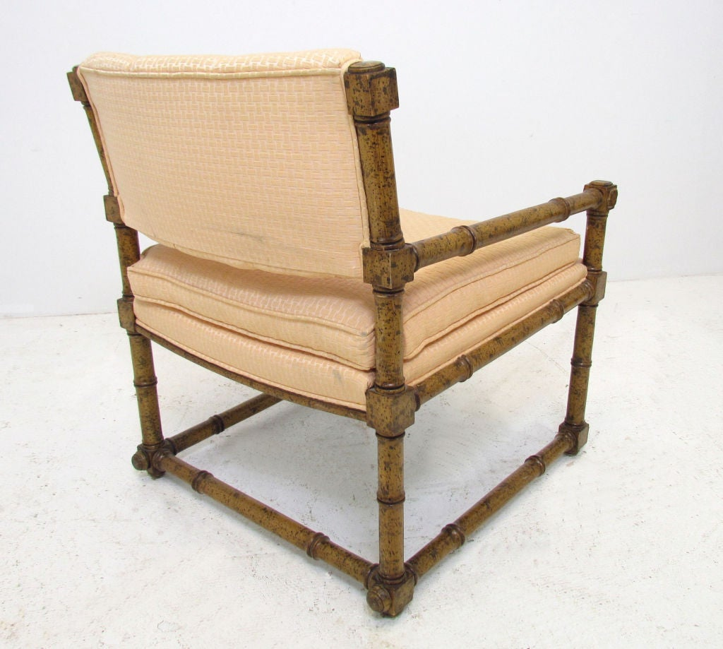 spindle arm chair hang upside down pair of elegant mid century block and chairs