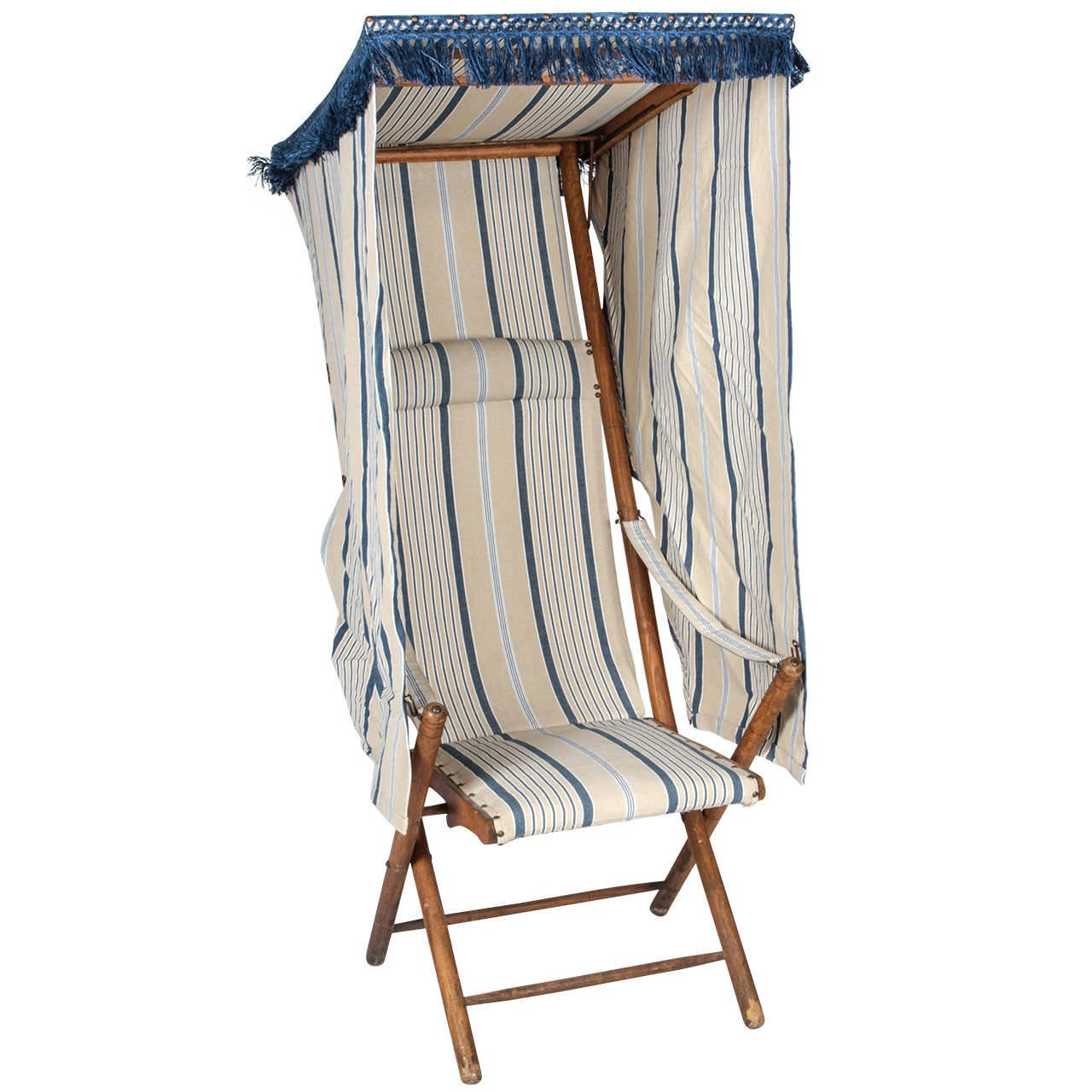 Fold Up Chair With Canopy French Beach Chair With Canopy At 1stdibs