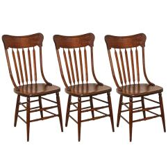 White Ladder Back Chairs Rush Seats Pull Out Bed Chair Oak Pressed For Sale At 1stdibs