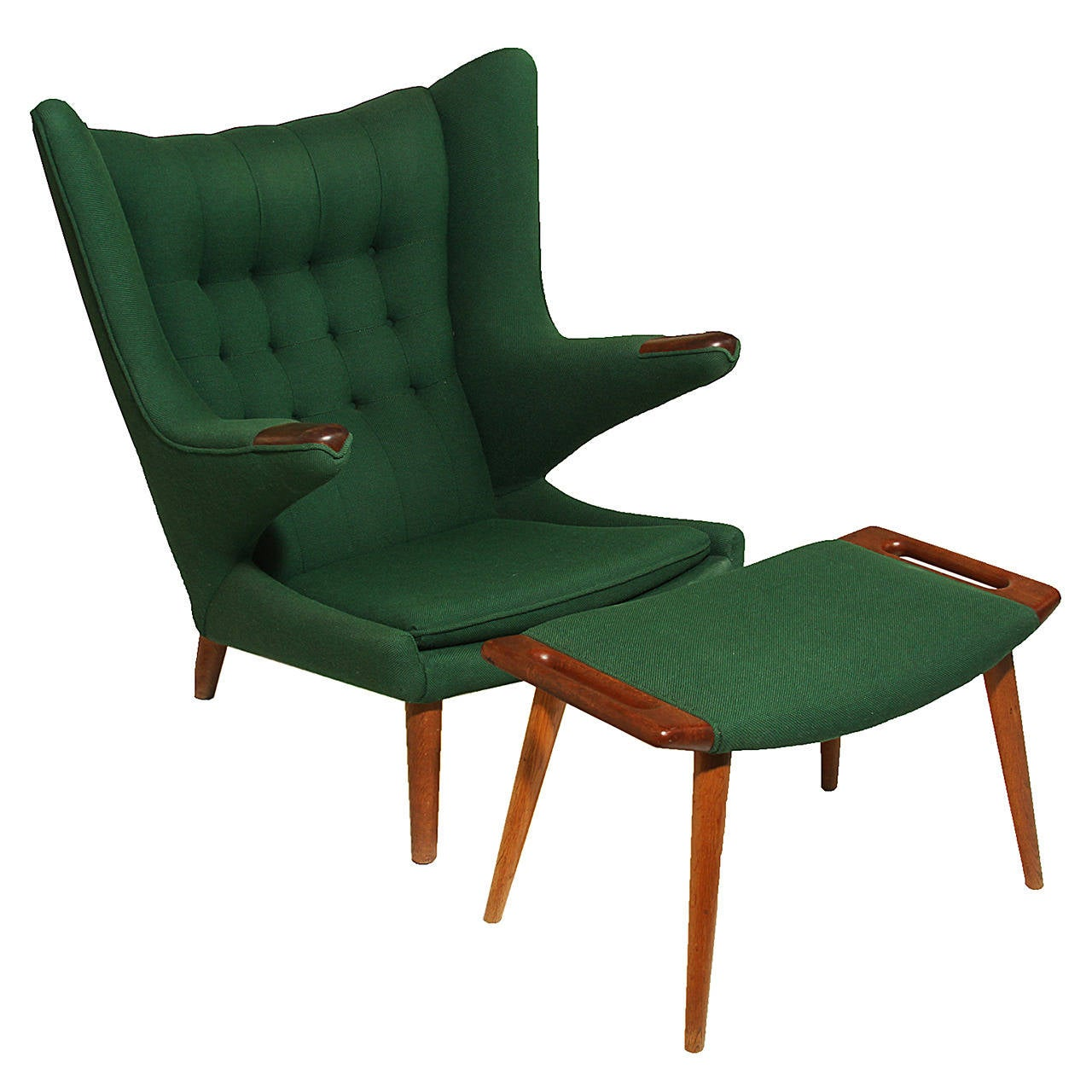 papa bear chair chiavari chairs rental price and ottoman by hans wegner at 1stdibs