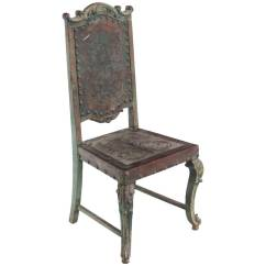 Rustic Leather Chair Covers North East Vintage Gothic Revival Embossed Side