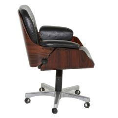 Black Leather Desk Chairs Accent For Cheap Vintage Office Chair In Rosewood And At 1stdibs
