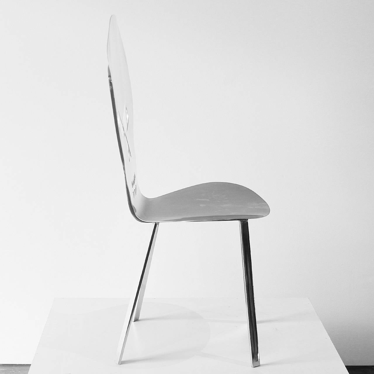 skull chair office accessories cadeira caveira inox by alê jordão for