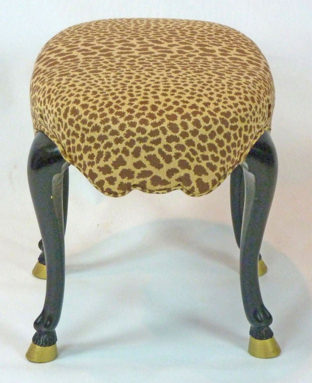 french bergere chair and ottoman tennis court umpire chairs animal leg footstool at 1stdibs