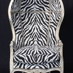 Zebra Print Chairs For Sale Egg Desk Chair Porter 39s In Tapestry At 1stdibs