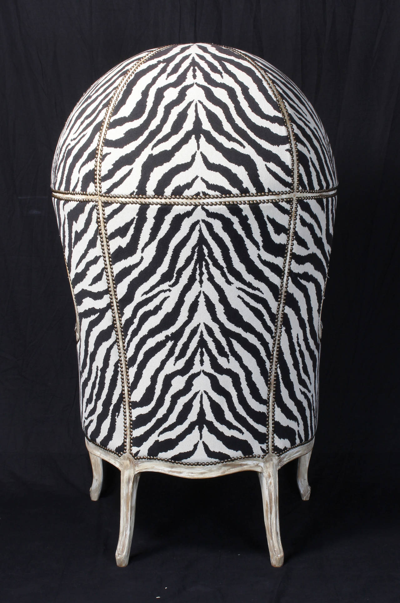 zebra print chairs for sale wedding chair cover hire lincolnshire porter 39s in tapestry at 1stdibs
