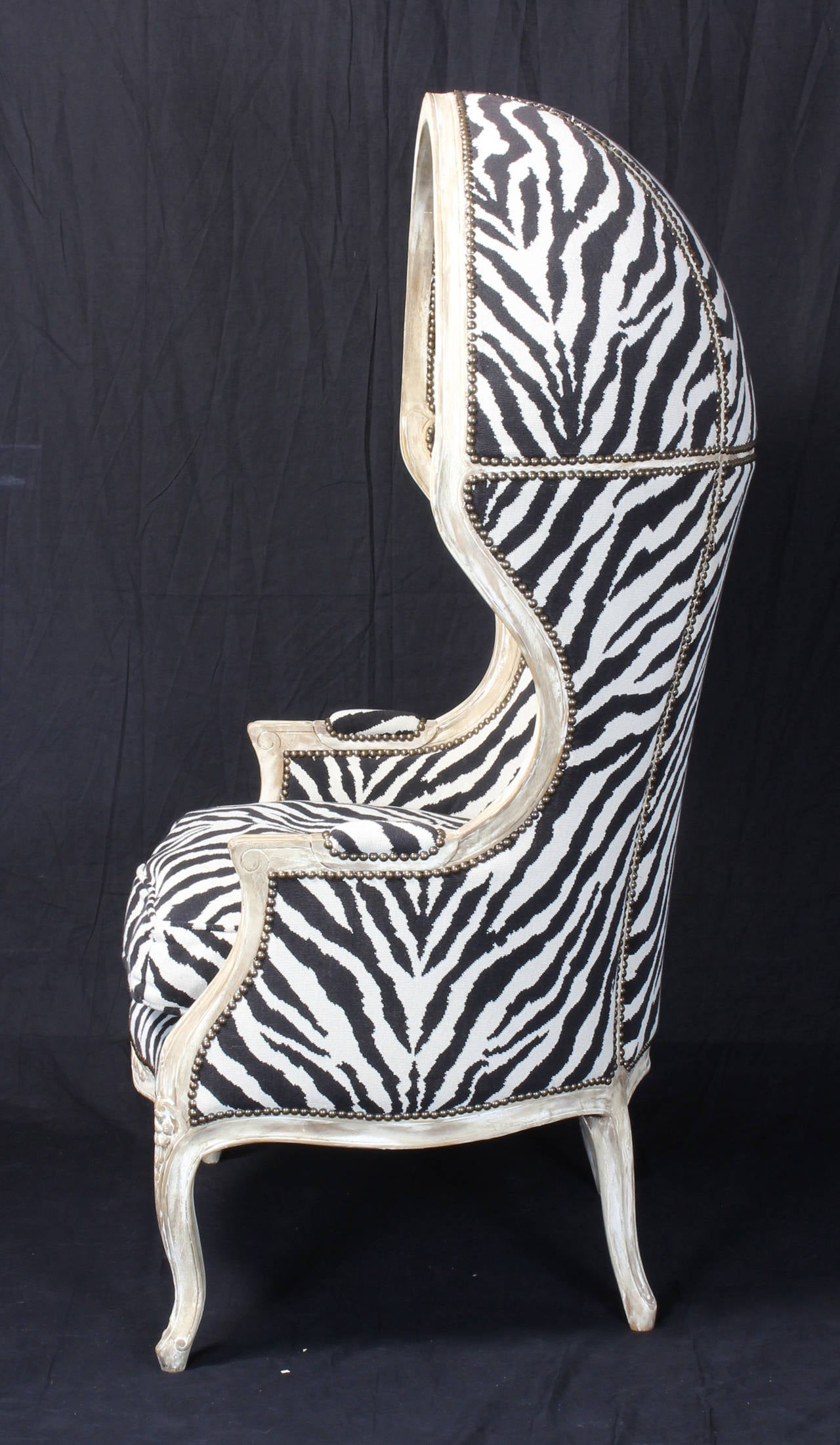 zebra print chairs for sale cream lounge chair porter 39s in tapestry at 1stdibs