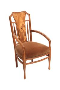 French Art Nouveau Arm Chairs by, Louis Majorelle at 1stdibs