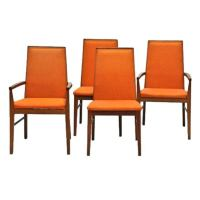 Set of Four Mid Century Danish Modern Chairs by Durlund at ...