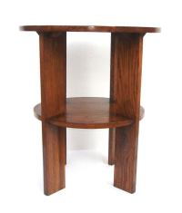 Mid Century Two Tier Mission Oak Side Table at 1stdibs