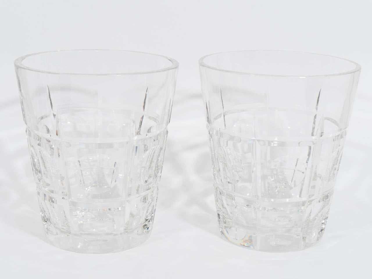 Vintage Pair of Sevres Crystal Vases or Ice Buckets For