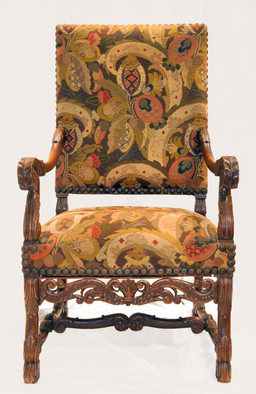 antique needlepoint chair fold out bed ikea elizabethan with upholstery for sale at 1stdibs