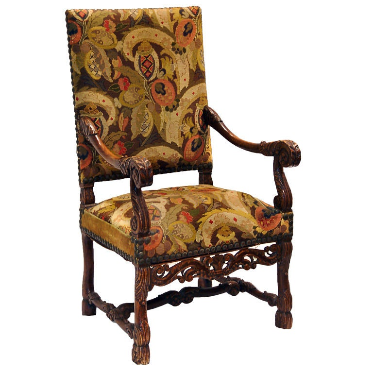 antique needlepoint chair coccyx kneeling elizabethan with upholstery for sale at 1stdibs