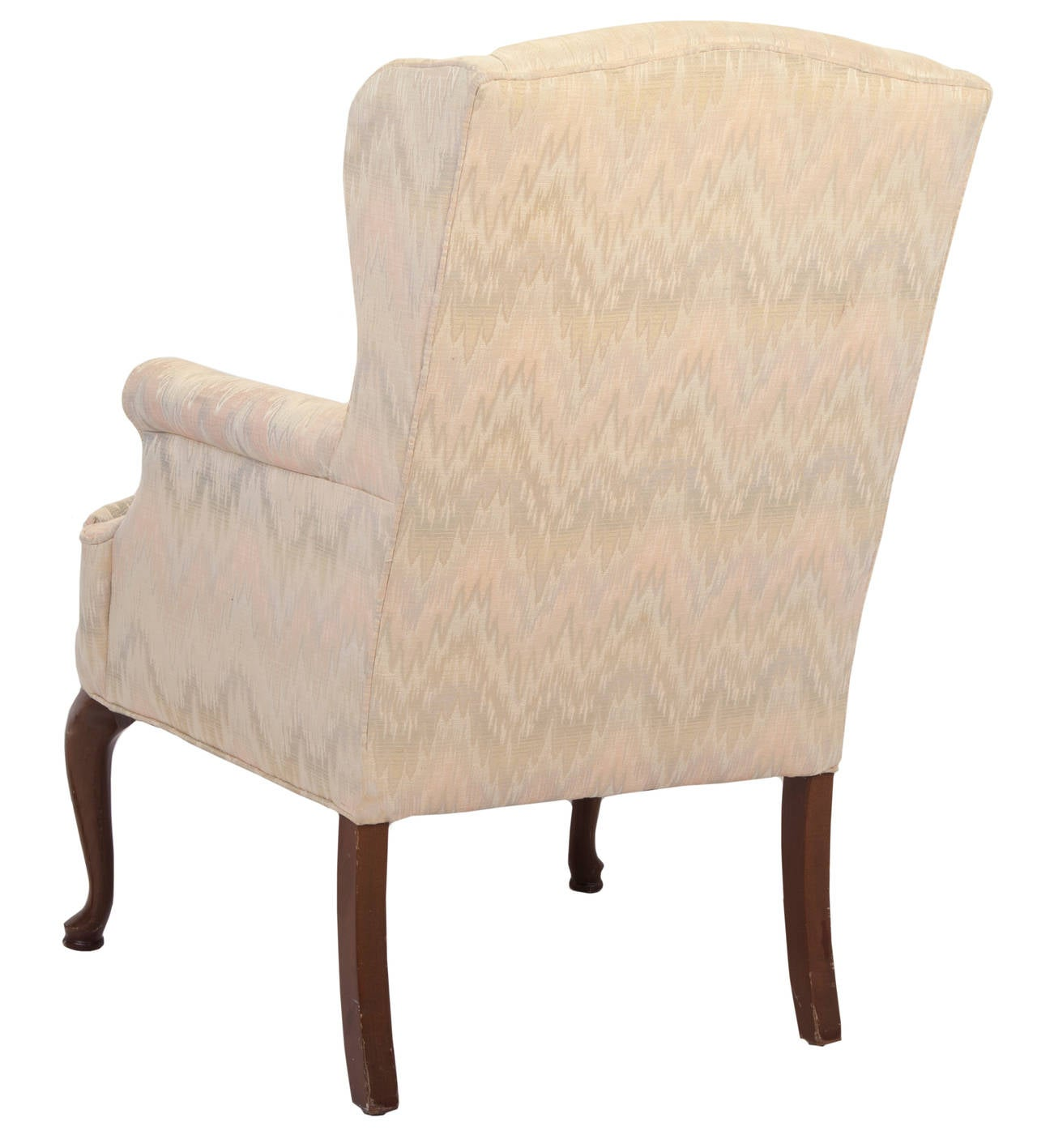 upholstered wingback chair portable walking singapore queen anne style wing for sale at 1stdibs