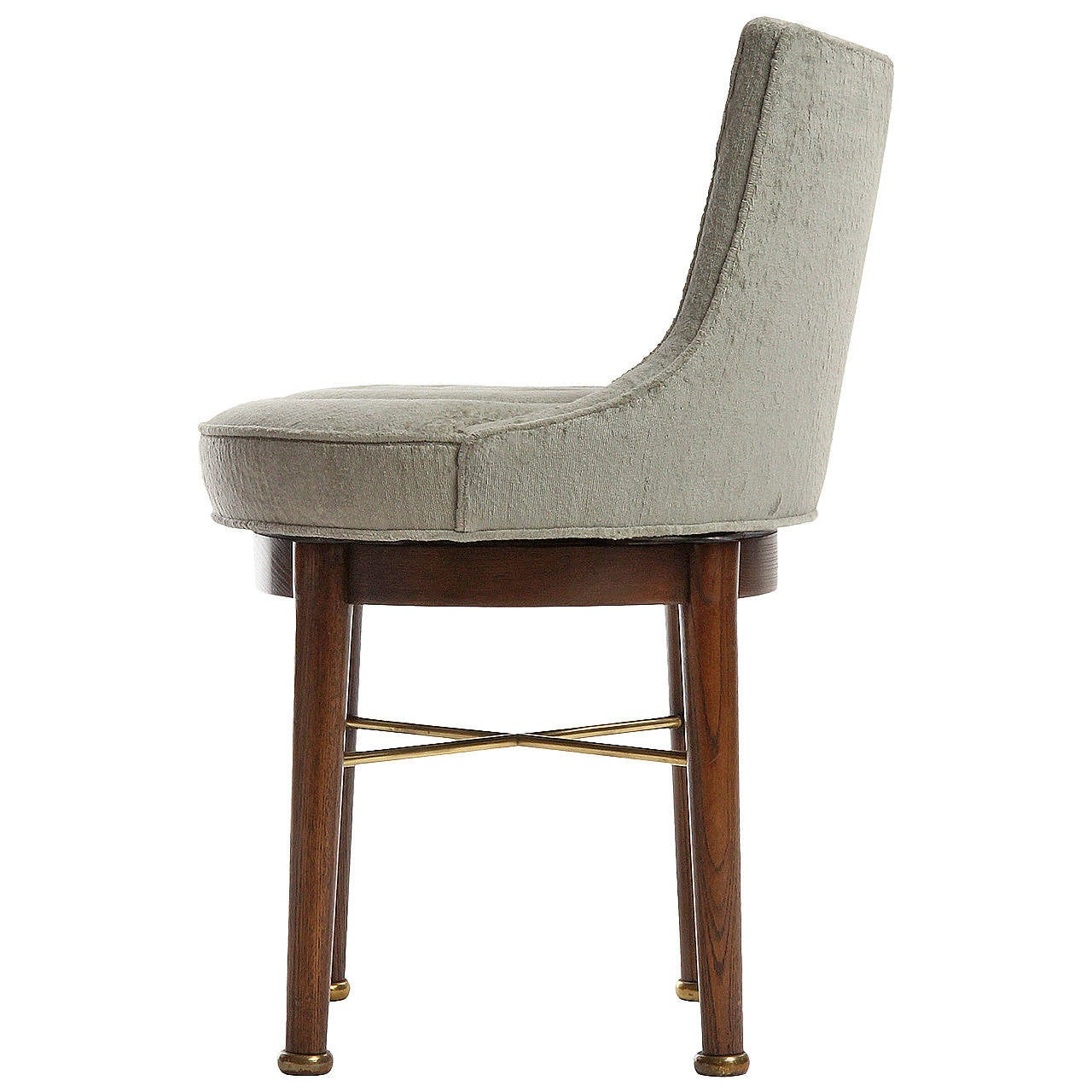 swivel vanity chair cheap office with back support swiveling by edward wormley for sale at 1stdibs
