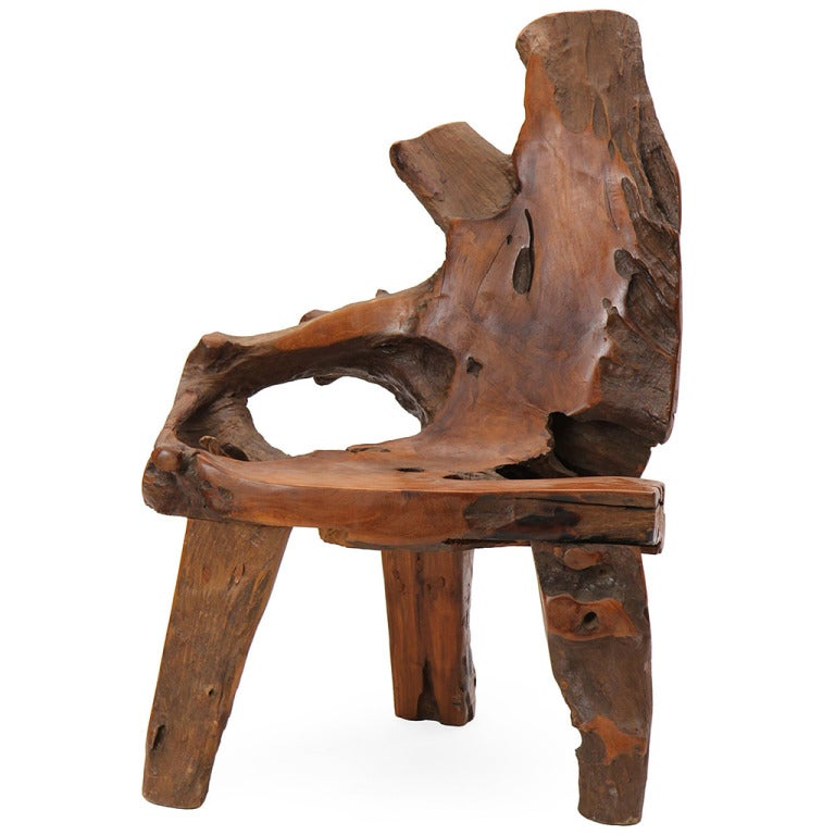 Tree Trunk Chair at 1stdibs