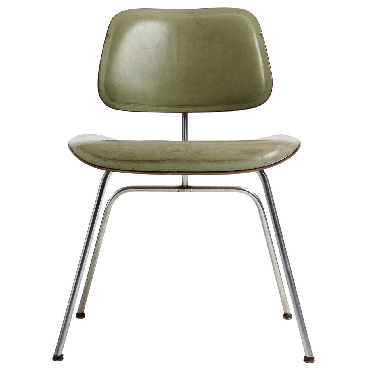 eames leather chair dining toddler saucer dcm by charles and ray for sale at 1stdibs