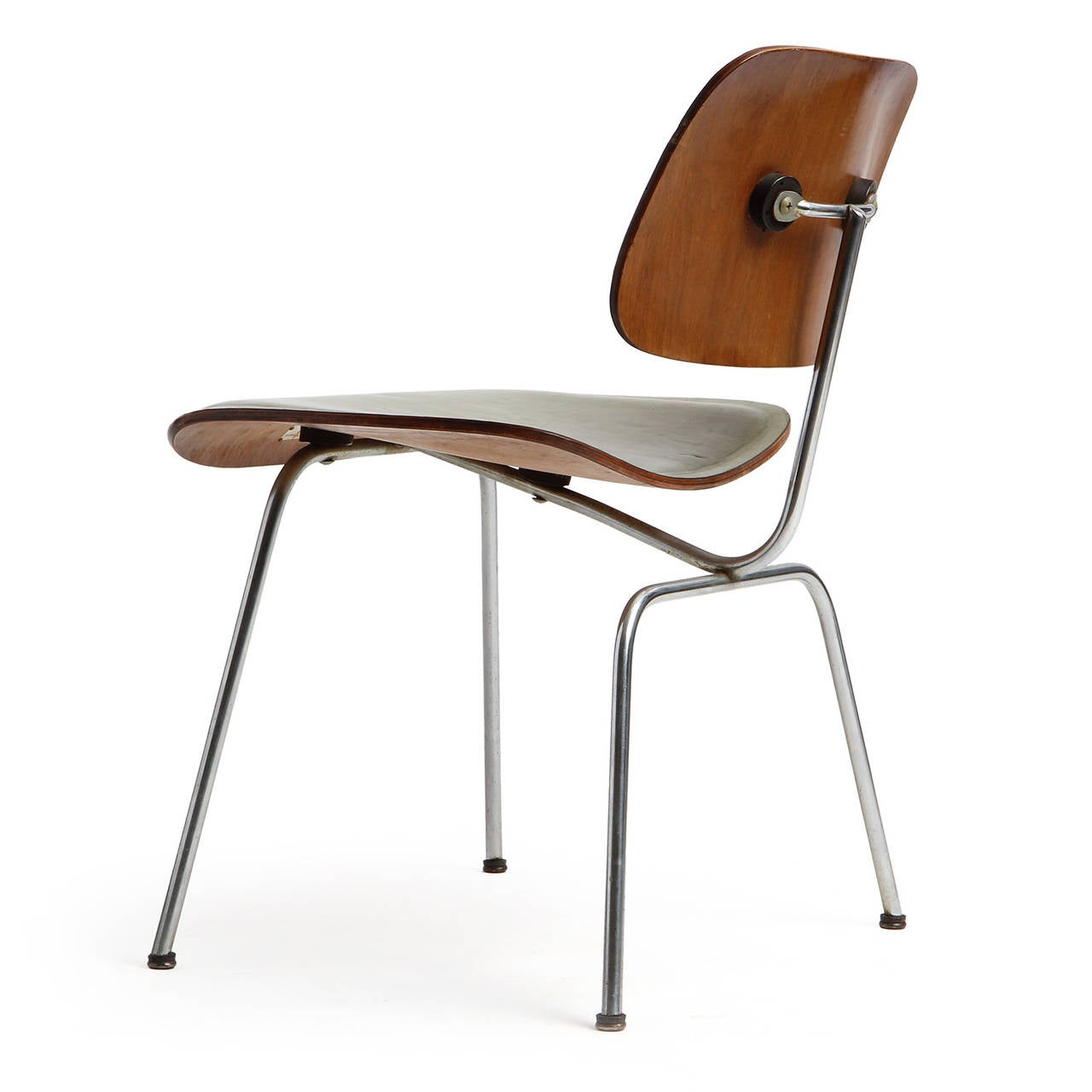 eames leather chair dining greendale rocking cushions dcm by charles and ray for sale at 1stdibs