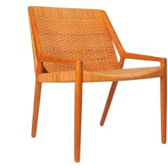 Cane Easy Chair Swing Metal Oak And By Larsen Madsen For Sale At