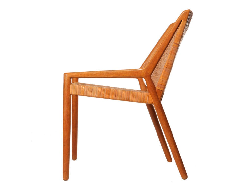 cane easy chair old fashioned kitchen step stool oak and by larsen madsen for sale at