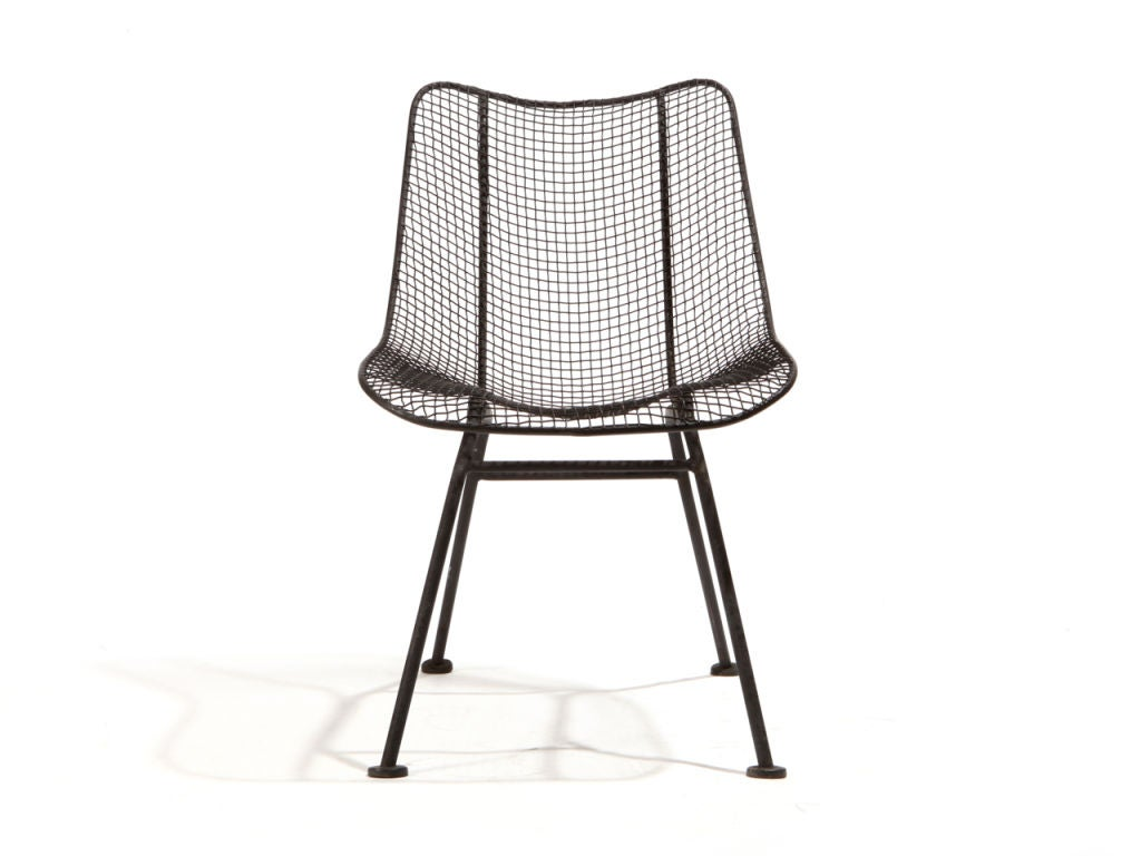 wire dining chairs polywood adirondack rocking chair mesh by woodard at 1stdibs