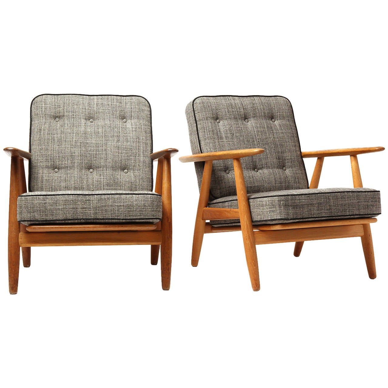 Cigar Lounge Chairs Cigar Armchairs By Hans J Wegner At 1stdibs