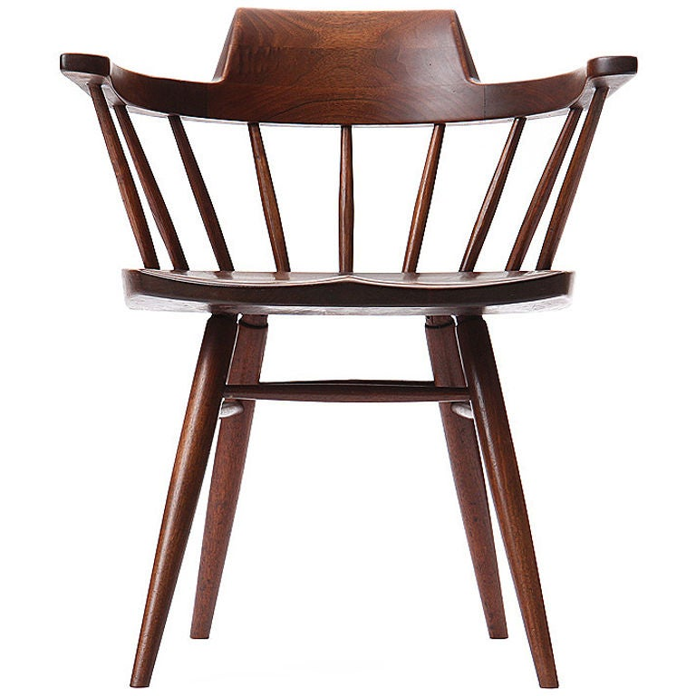 captains chair upholstered chairs for sale captain s by george nakashima at 1stdibs