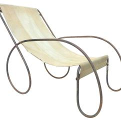 Canvas Sling Chair Posture Stool Ebay Pair Of Unusual Tubular Steel And Lounge