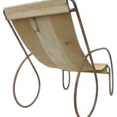Canvas Sling Chair Garden Covers Homebase Pair Of Unusual Tubular Steel And Lounge