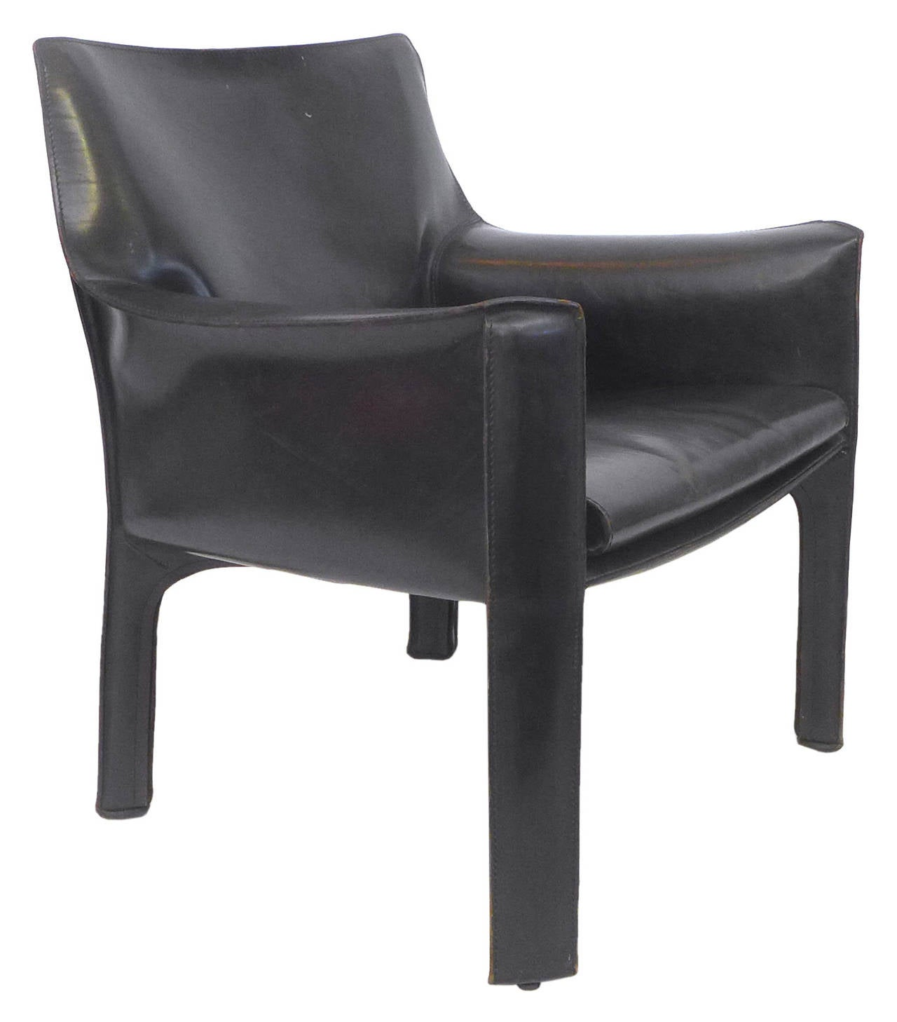 mario bellini chair office posture corrector black leather cab by for cassina at