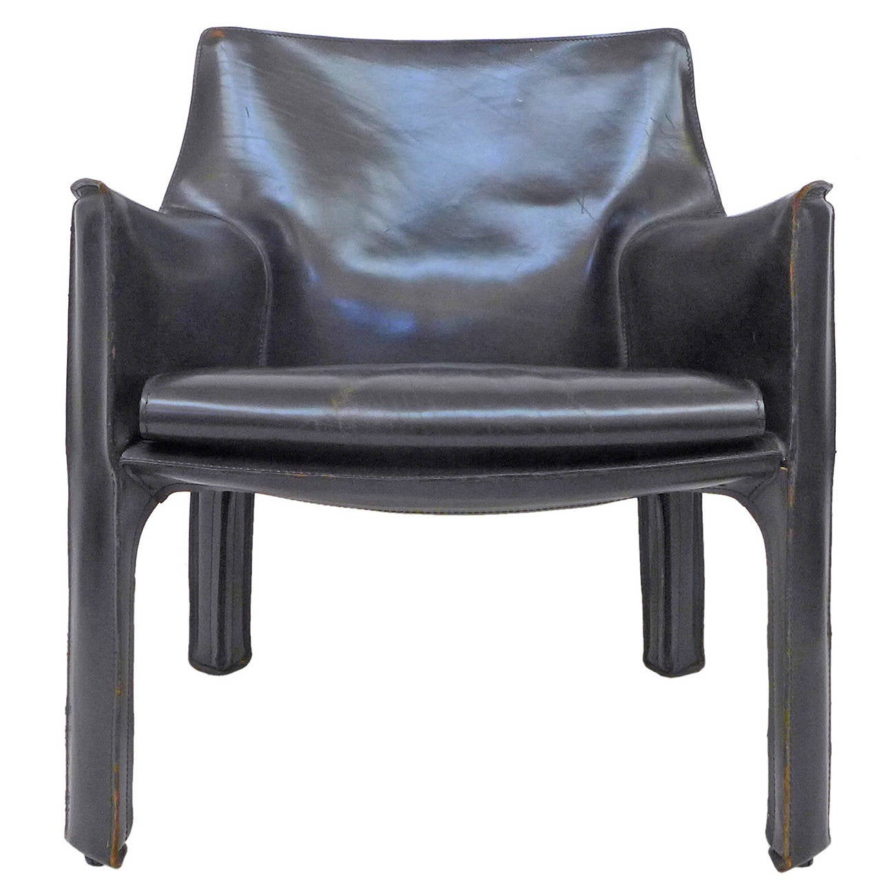 mario bellini chair best camping ever black leather cab by for cassina at