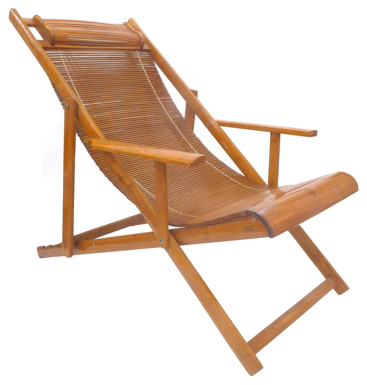 Japanese Chair Japanese Folding Bamboo Lounge At 1stdibs
