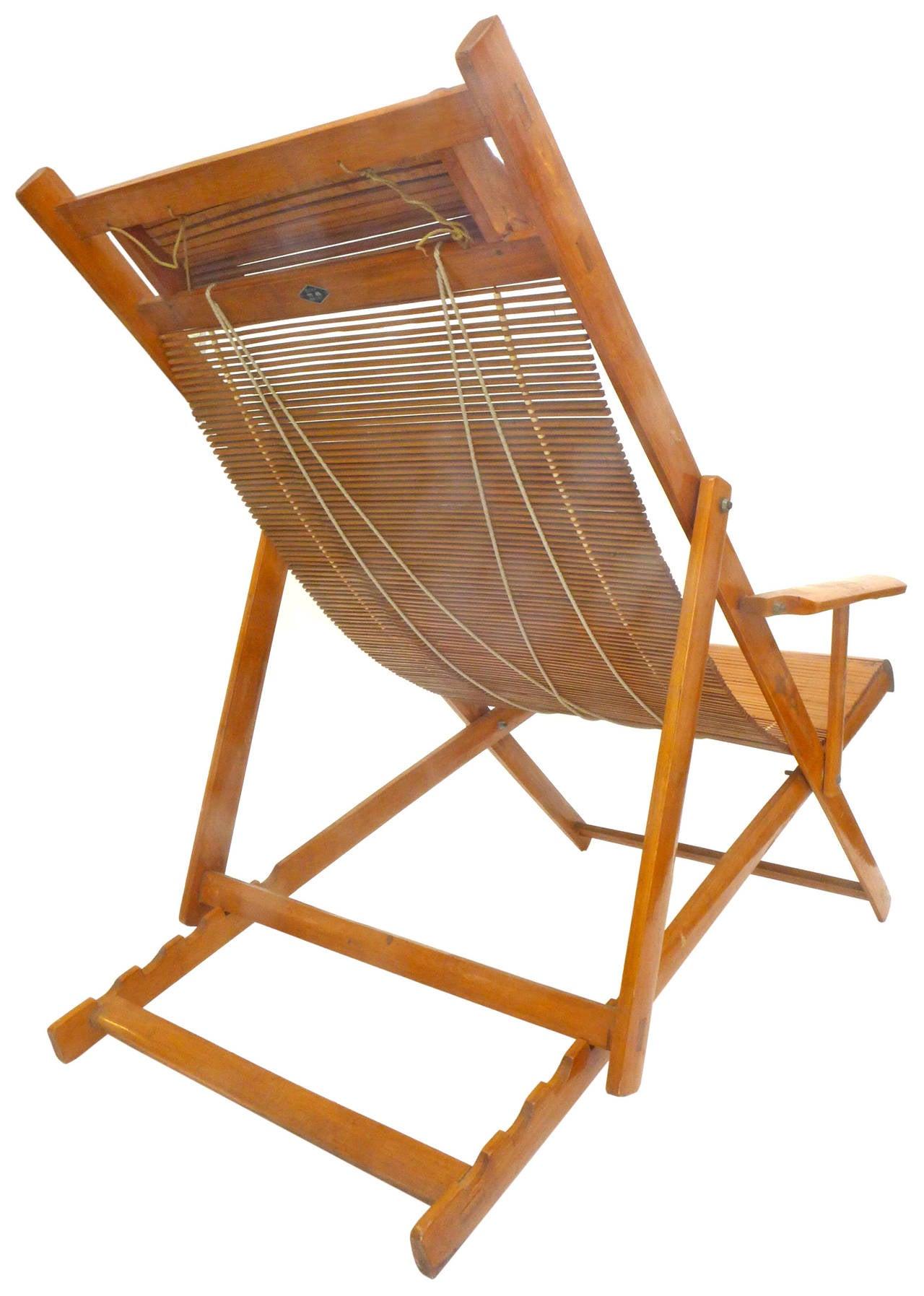 folding japanese chair vintage bamboo lounge at 1stdibs