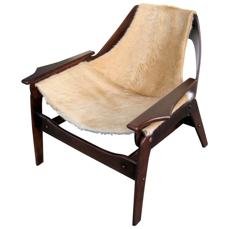 canvas sling chair most comfortable folding a stained walnut designed by jerry johnson in 1964 at 1stdibs