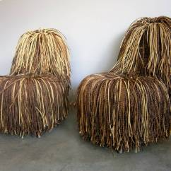 Campana Brothers Favela Chair Inada Dreamwave Massage Jocular Pair Of Shaggy Cord Chairs In The Style