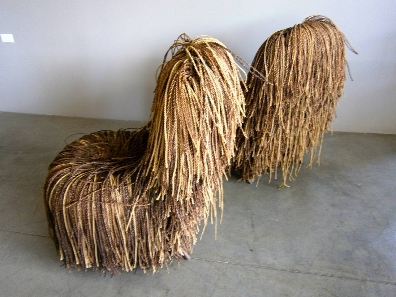 campana brothers favela chair straight back jocular pair of shaggy cord chairs in the style