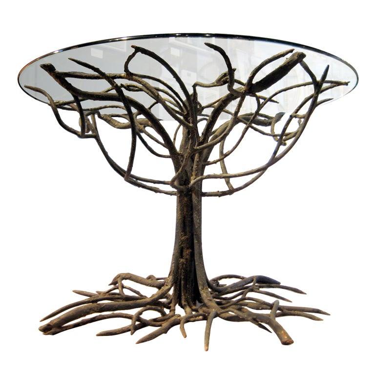 Circle Wood Dining Table