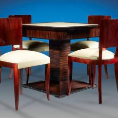 Card Table And Chairs Eddie Bauer Multi Stage High Chair Art Deco At 1stdibs