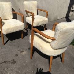 Faux Fur Chair Cover Ozark Trail Folding Replacement Parts Renou Et Genissetrare Set Of Three Desk Chairs Newly