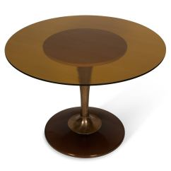 Tulip Table And Chairs Double Chair With Ottoman Amber Glass Top Dining For Sale At
