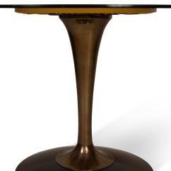 Tulip Table And Chairs Gold Chair Covers To Rent Amber Glass Top Dining For Sale At