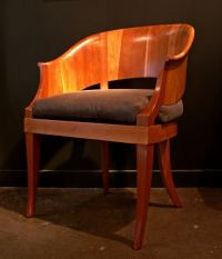 A Swedish Art Deco Barrel Back Arm Chair at 1stdibs