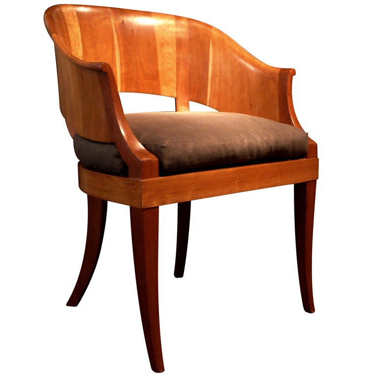 A Swedish Art Deco Barrel Back Arm Chair At 1stdibs