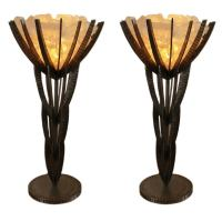 Pair of Rock Crystal Table Lamps For Sale at 1stdibs