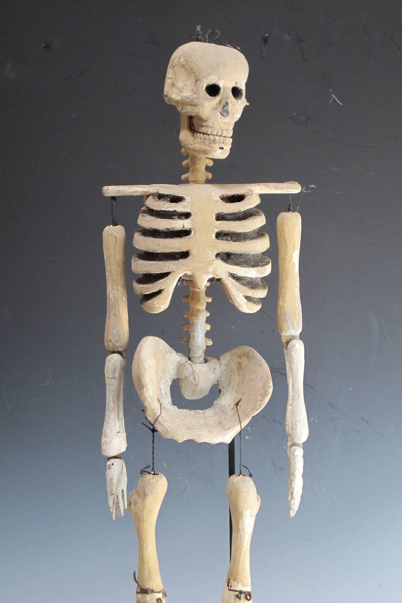 wooden skull chair flip walmart wood skeleton puppet at 1stdibs