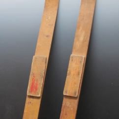 Childs Wooden Rocking Chair Nice Looking Gaming Chairs Early Child's Skis At 1stdibs