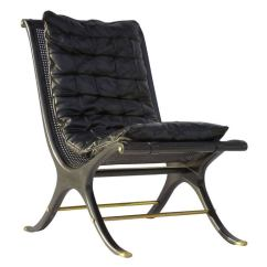 Jerome's Swivel Chairs Gold For Sale 1968 Ebony Caned Lounge Chair Gerald Jerome Ca Design 10 At
