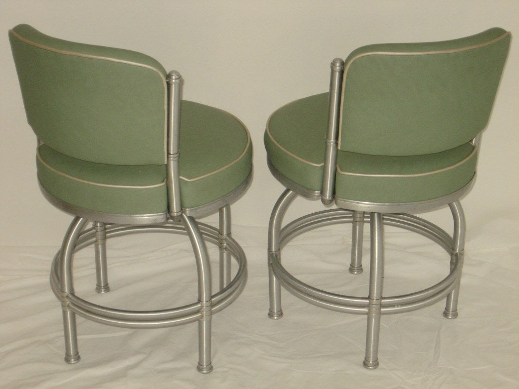 revolving chair used little tikes wooden desk and pair of warren mcarthur railroad stools at 1stdibs