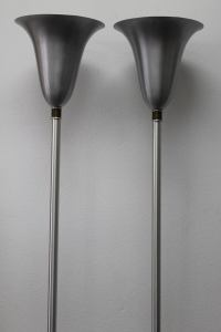 Russel Wright Aluminum Torchieres at 1stdibs